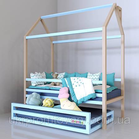 Ліжко-будиночок «Скандинавія» в Києві, натуральне дерево, якість, фото 2