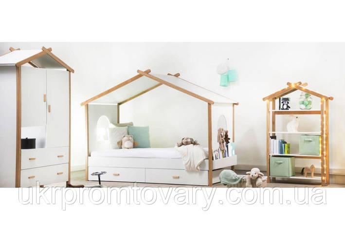 Ліжко-будиночок Хатинка з масиву Масив бука, З ящиками в Києві, натуральне дерево, якість, фото 2