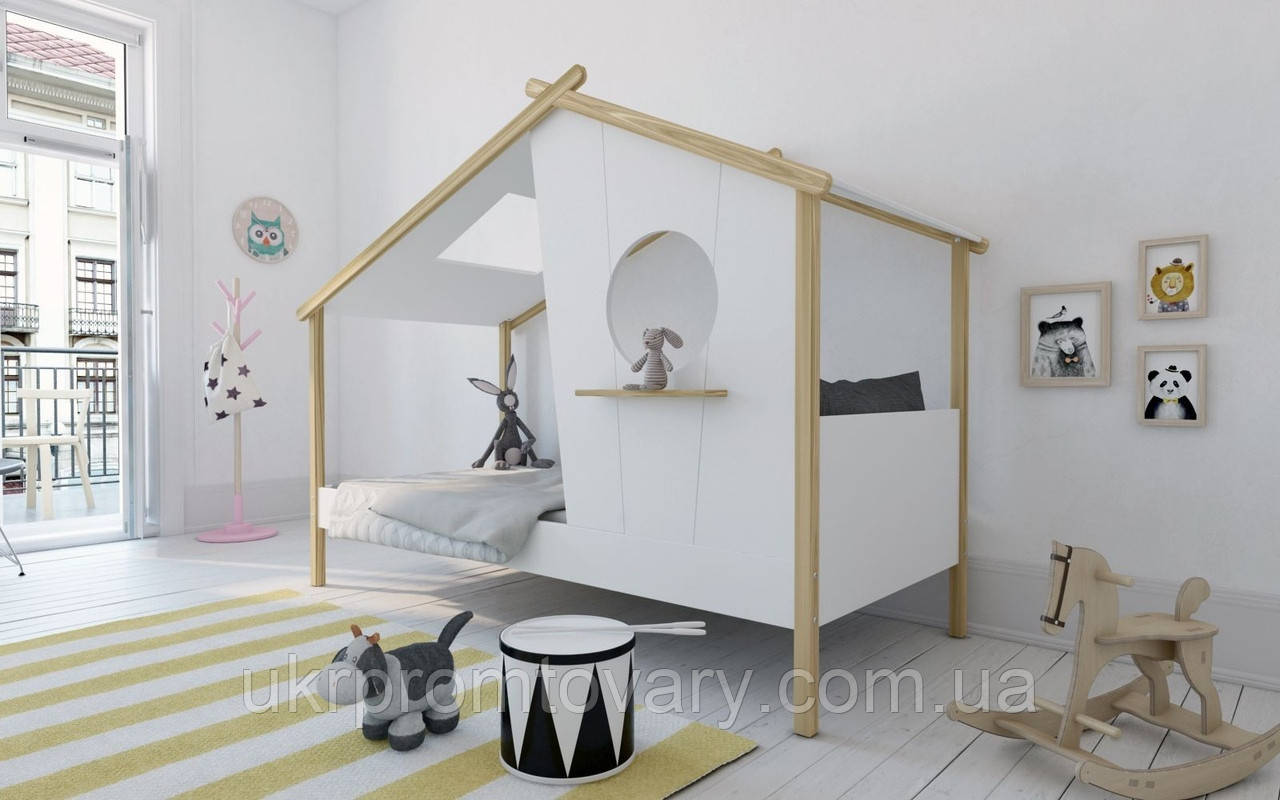 Кровать-домик из массива Скворечник Массив бука, С ящиками в Киеве, натуральное дерево, качество