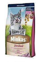 Корм Happy Cat (Хэппи Кэт) Minkas Sterilised сухой корм для взрослых стерилизованных котов 1.5 кг