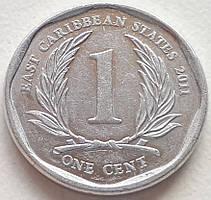 Восточные Карибы 1 цент 2011