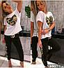 Женский костюм с декором камуфляжной пайетки в расцветках. НД-1-0520, фото 4