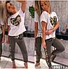 Женский костюм с декором камуфляжной пайетки в расцветках. НД-1-0520, фото 3