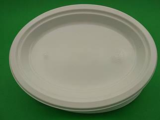 Овальная одноразовая тарелка 31 mm 50 шт