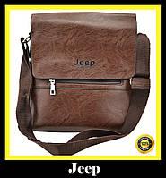 Стильная мужская кожаная сумка-плечо Jeep Buluo 9008