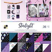 Набір двостороннього паперу - Starlight - DCWV - 30x30 Цін за пів набору!!!
