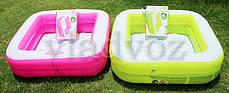 Детский надувной бассейн 57100 intex розовый, фото 3