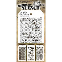 Трафарет - Tim Holtz Mini Layered Stencil Set №4 - 3 шт.