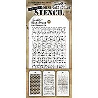 Трафарет - Tim Holtz Mini Layered Stencil Set №8 - 3 шт.