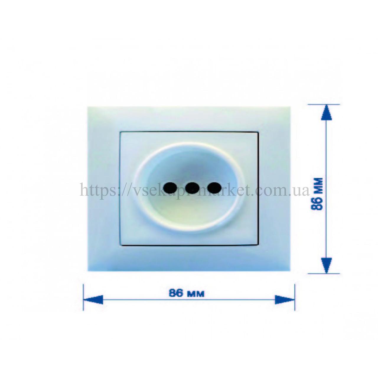 Розетка RIGHT HAUSEN VELENA одинарная внутренняя керамика HN-016071 (бежевая, белая)