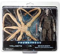 Набор фигурок Трилобит против Инженера - Trilobite vs Enginee, Battle-Damaged, Neca, Prometheus - 143288