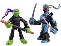 Набор мини-фигурок Донателло и Фут Ниндзя - Donatello and Foot Tech Ninja, 4Kids, 7 см, Playmates - 143185