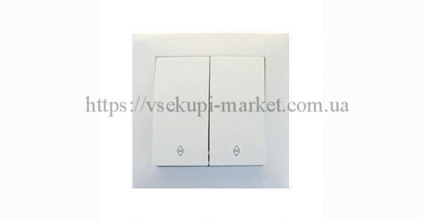 Проходной двойной выключатель RIGHT HAUSEN VELENA HN-011181