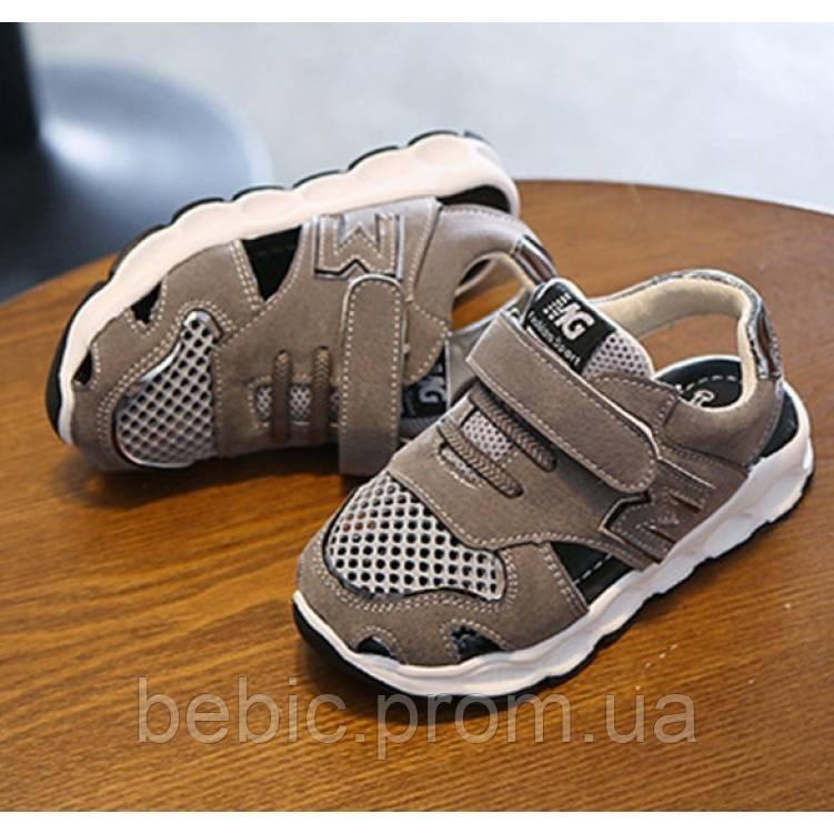 Босоніжки дитячі MG сірі Розмір: 21