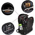 """Рюкзак SwissGear 8810 39 л, 17"""" + USB + дождевик black Черный, фото 3"""