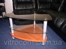 Журнальний скляний столик Дэльта
