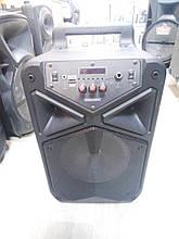 Аккумуляторная колонка TMS-806 с радиомикрофоном / 80W (USB/FM/Bluetooth)