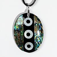 Кулон с перламутром, 55*41 мм., серебро, 1024КЛП