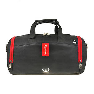 Дорожно-спортивная сумка 40х24х20 TONSHENG нейлон з ПВХ кс99219ч кр, фото 2
