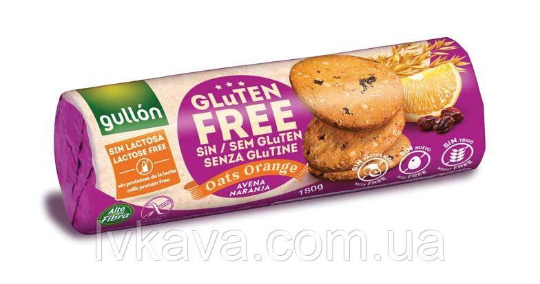 Овсяное печенье с апельсином без глютена и лактозы  Gullon  , 180 гр, фото 2