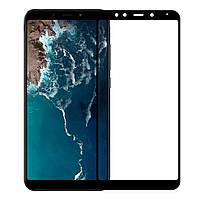 Защитное стекло Walker Full Glue для Xiaomi Mi A2 / Xiaomi Mi 6X Черный