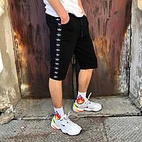Шорты трикотажные в стиле Adidas Line черные