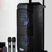 Портативная колонка с микрофонами SL208-22 160W (USB/Bluetooth/Аккумулятор/260W) Супер звук!