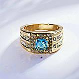 Роскошный мужской перстень с голубым камнем, фото 2