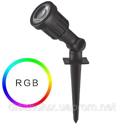 Светильник ландшафтный в грунт SP1402 LED 3W RGB  230V IP65