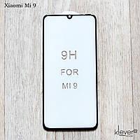 Защитное стекло Full Glue для Xiaomi Mi 9 (black) (загнутые углы, полный клей (5D))