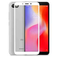 Защитное стекло Walker Full Glue для Xiaomi Redmi 6 / Xiaomi Redmi 6A Белый