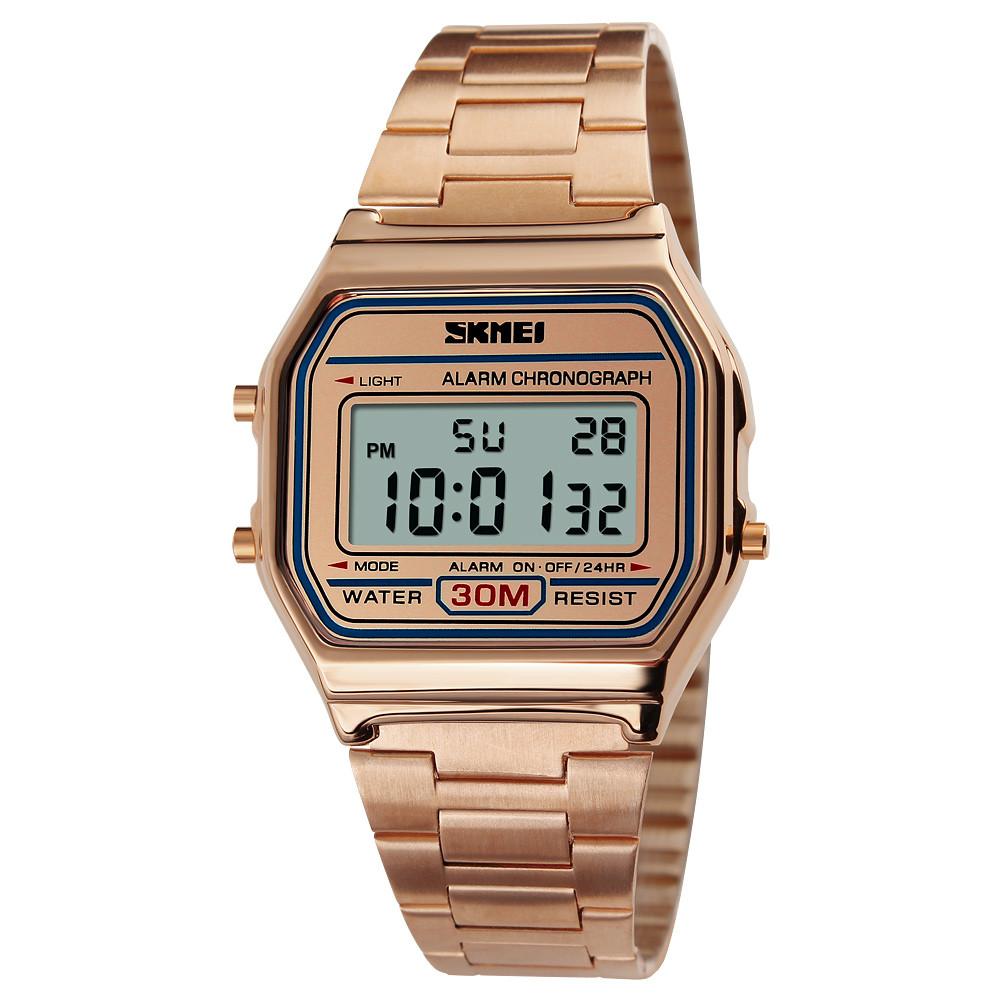 Skmei 1123 popular  розовое золото мужские  часы