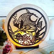 """Соляний світильник """"Риба і медуза"""" в асортименті"""