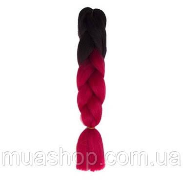 Канекалон Омбре (черный/красный) 65*130 см, фото 2