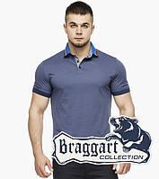 Braggart | Мужская футболка поло 6285 джинс, фото 1