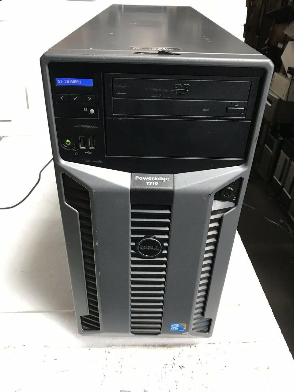Сервер, Workstation, Dell T710, Intel Xeon X5550, 4 ядра по 2,66 GHz, 16 Гб ОЗУ, HDD 0 Гб, видео 1 Гб, 1100W