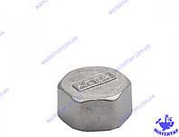 Заглушка латунная никелированная 1/2 внутренняя KOER