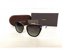 Женские солнцезащитные очки в стиле Tom Ford (0717) Lux