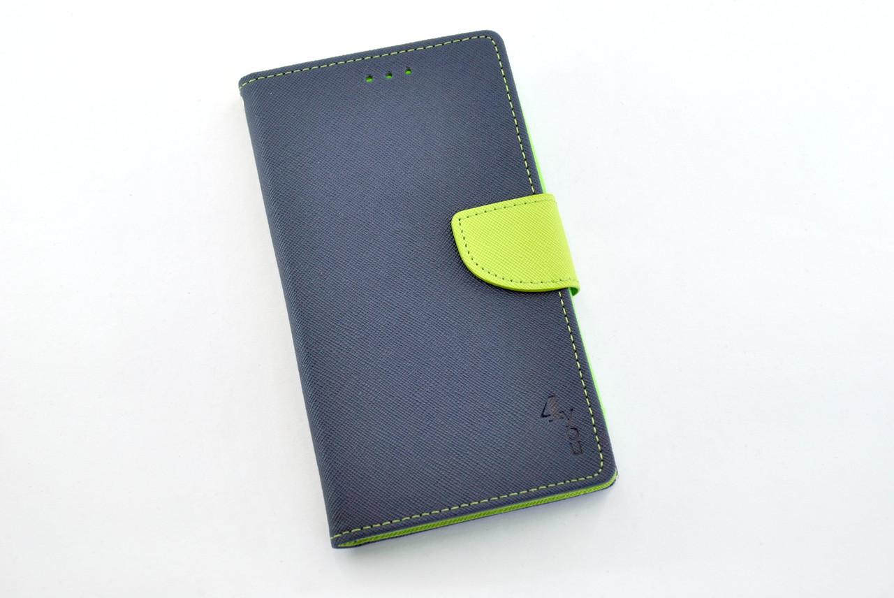 """Чехол-книжка 4you Fancy 4,5""""-4,8"""" dark blue/green универсальная ТОП Продаж!"""