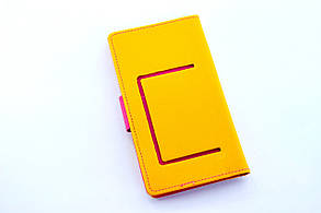"""Чехол-книжка 4you Fancy 4""""-4,4"""" yellow/crimson универсальная ТОП Продаж!, фото 2"""