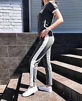 Костюм женский футболка и штаны Balenciaga (серый)