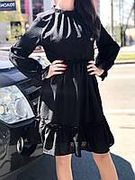 Платье женскоее  черное ажурное