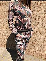 Костюм женский брючный Тропики бомбер и брюки