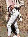 Женские белые джинсы (мрамор), фото 4