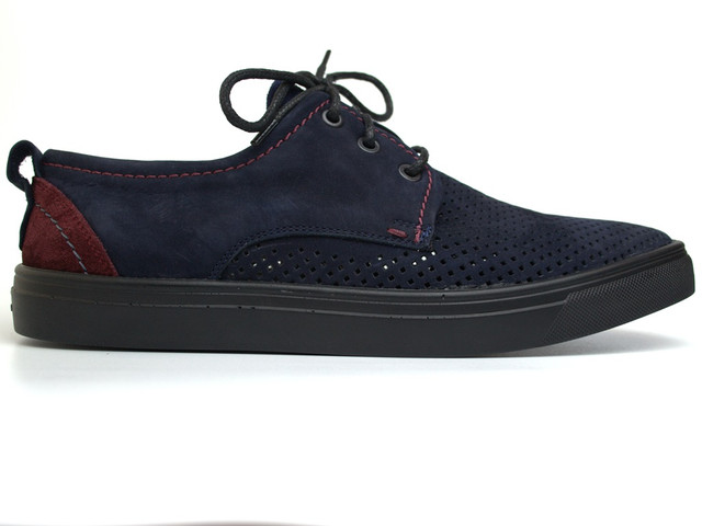 Слипоны кросовки в сеточку мужская обувь большой размер Rosso Avangard Slip-On Blu-Red NUB Perf BS синие