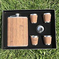 Подарочный набор фляга и стаканы, фото 1