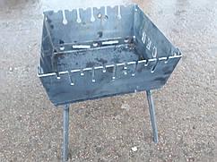 Мангал складной для отдыха    СЕВ 2 мм ,Украина   6 шампуров