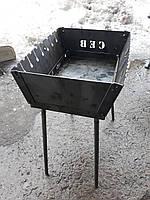 Мангал складной для отдыха    СЕВ 2 мм ,Украина   8 шампуров