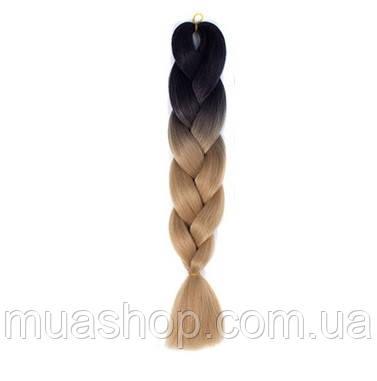 Канекалон Омбре (черный/русый) 65*130 см, фото 2