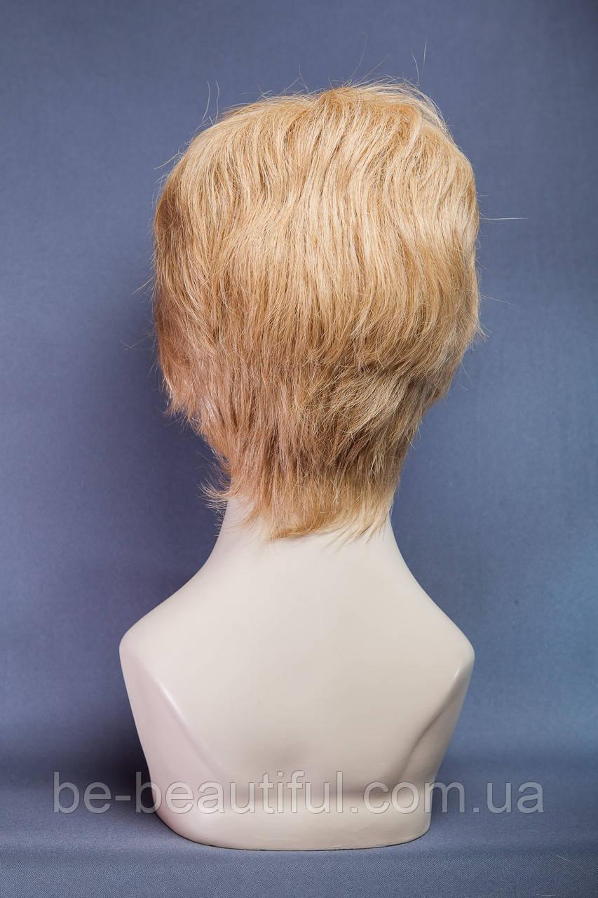 Натуральный парик №8, цвет мелирование пшеничный с белым